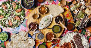 tabletop of food